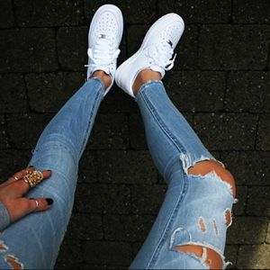 White Nike Air Force Ones
